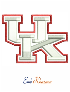 uk logo 3d puff Embroidery design