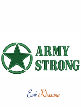 Army strong machine embroidery design