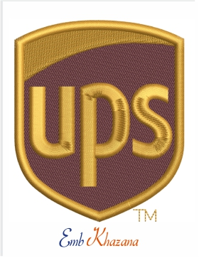 ups logo Embroidery Design