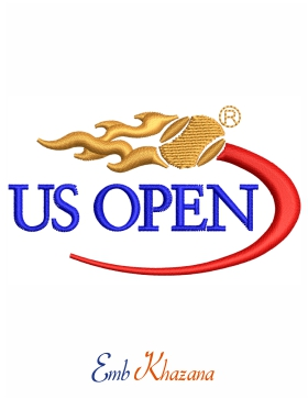 Us Open Logo Embroidery Design