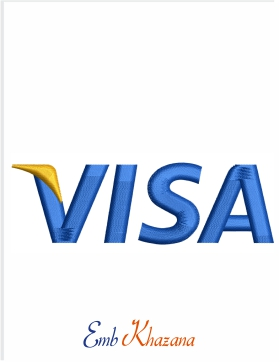 visa logo Embroidery Design