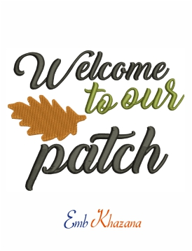 Welcome to our patch machine embroidery design