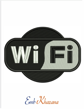 wifi logo Embroidery Design