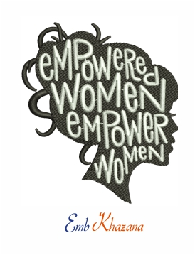 Black Women Empowered machine embroidery design