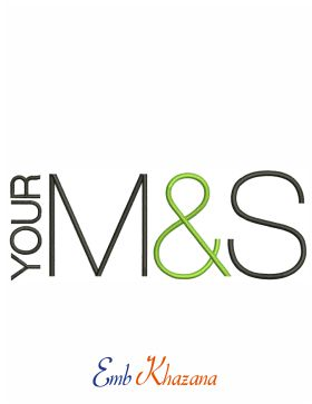 Your M&S logo Embroidery design