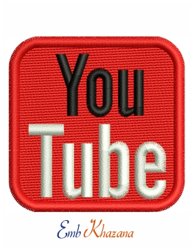 youtube logo Embroidery design