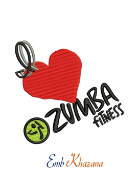 Zumba Fitness logo embroidery design
